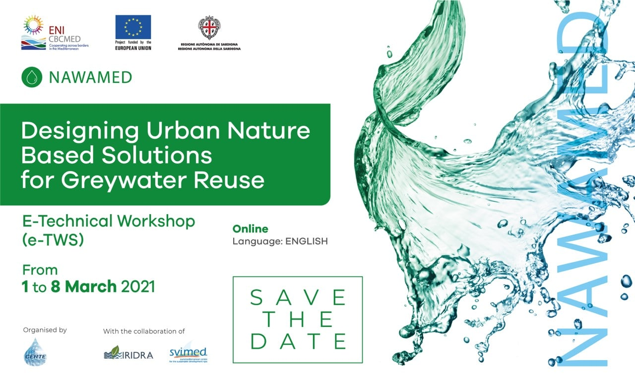 """NAWAMED e-Technical Workshop """"Designing urban nature-based solutions for greywater reuse"""""""
